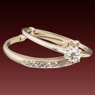 Vintage 14 Karat Gold Diamond Wedding Ring Set
