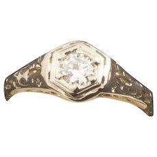 Antique Edwardian 14 Karat Gold Diamond Ring