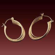 Vintage 14 Karat Gold Hoops