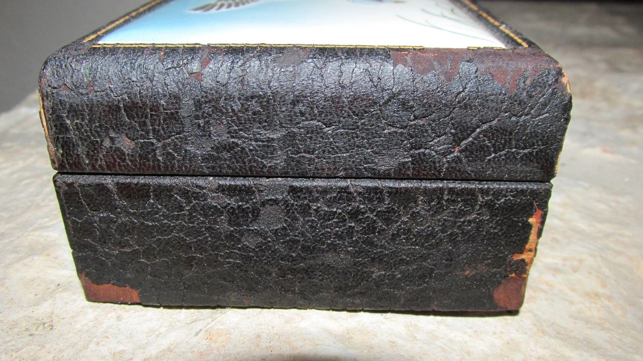 Vintage Anton Zaic Signed And Dated 1947 Leather Covered