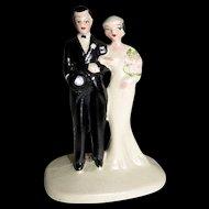 Vintage Bride & Bride Groom Wedding Cake Topper