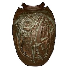 "Richard Lincoln RML Mid Century Texas Art Pottery (1973) 14.5""x10""x 6"""