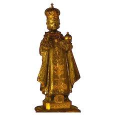 Fine Antique Napoleon III Cast Bronze Statue, Enfant of Prague