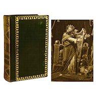"Antique Nineteenth Century French Binding ""Les Psaumes de David"" circa 1817"