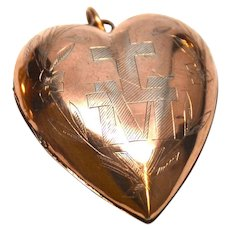 Antique Nineteenth Century Rose Vermeil French Sacred Heart Ex Voto