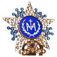 Stunning Antique Nineteenth Century Cobalt Blue Candle Shade Ornament