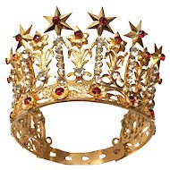 Antique French 19th Century Santos Couronne/Crown