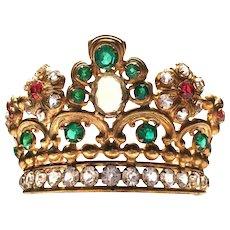 Antique Gilded Brass French Nineteenth Century Diadem Madonna Santos Crown