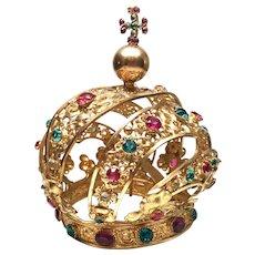 Antique Nineteenth Century French Santos Religious Crown
