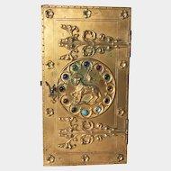 Rare Signed Louis Bachelet Napoleon III Era Cast Bronze and Wood Religious Tabernacle Door