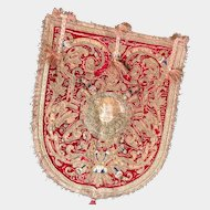 Antique Seventeenth Century Italian Velvet and Embroidered Ecclesiastical Textile