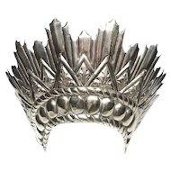 Rare Life Size Antique Italian 19th Century Silver Halo Madonna Crown