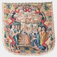 Magnificent Antique 17th Century French Ecclesiastic Needlework Vestment Cope Hood