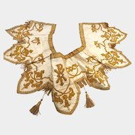 Exquisite 19th Century French Metallic and Silk Antependium Altar Frontal Panel with Opaline Stones