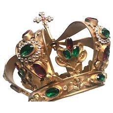 Stunning Antique Napoleon III Era Royal Crown with Cherubim
