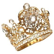 Rare Antique 19th Century French Religious Diadem Crown