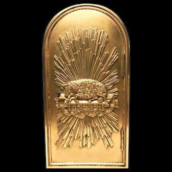 Spectacular Rare Antique Nineteenth Century French Napoleon III Gilded Bronze Tabernacle Door