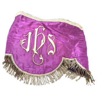 Antique Napoleon III Era French Religious Banner