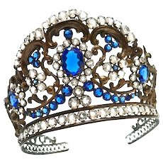 Antique 19th Century French Religious Diadem Crown