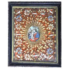Exquisite 18th Century Religious Paperolle Monastery Work