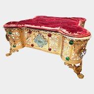 Impressive Antique Gilded Bronze Ecclesiastic Lutrin or Table Lectern