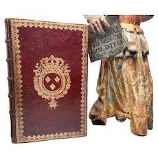 Antique Eighteenth Century French Armorial Louis XV Semaine Sainte Prayer Book
