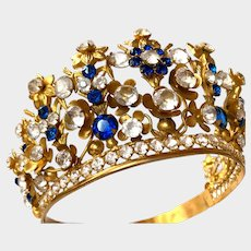 Magnificent Life Size French Religious Gilded Bronze Diadem Crown