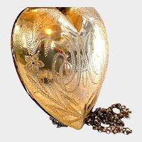 Antique French Religious Convent Vermeil Sacred Heart Ex Voto