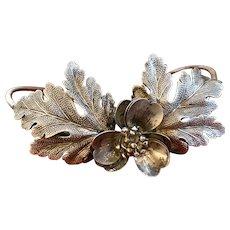 RARE Antique 19th Century Silver French Laurel Oak Leaf Santos Diadem Crown