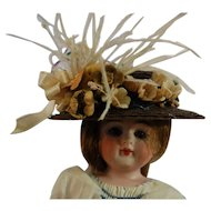 Precious Artist Made Hat in Rich Brown Straw