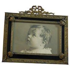 Sweet Baby Photo in Art Frame Circa 1900