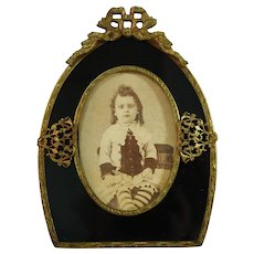 Unusual Shaped Frame with Photo of Little Girl Circa 1900