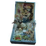 Artist Made Presentation Box in Dusty Light Blue