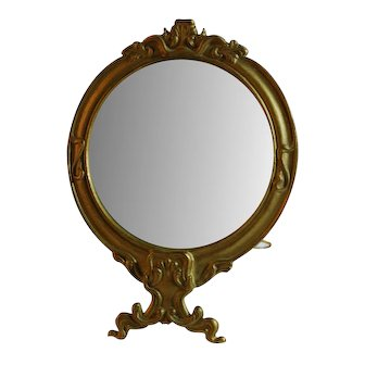 Victorian Style Stand-Up Beveled Mirror