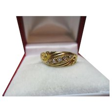 Attractive Antique 18ct Solid Gold 5-Stone Diamond Gemstone Ring{0.1Ct Weight}