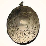 Exquisite Antique 9ct Rose Gold 'Oval Shaped' Locket Pendant{5.6 Grams}
