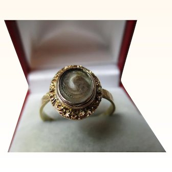 Quality Victorian{Birmingham 1873} 18ct Solid Gold 'Memorial' Ring