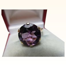 Attractive Antique 9ct Solid Gold 'Alexandrite' Gemstone Ring{3.6 Grams}