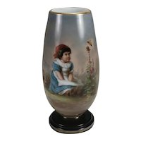19th century Bohemian Art Glass Vase decorated by Josef Ahne
