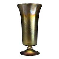 Louis Comfort Tiffany Favrile Gold Art Glass Vase