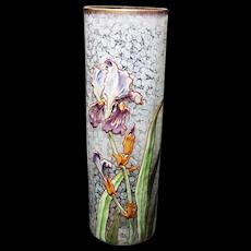 Fantastic Hand Enameled LEGRAS IRIS Vase!