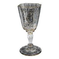 Signed J. & L. Lobmeyr Decorated Glass
