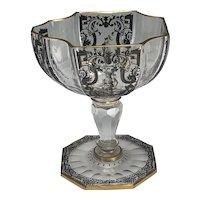 Signed J. & L. Lobmeyr Decorated Champagne Glass