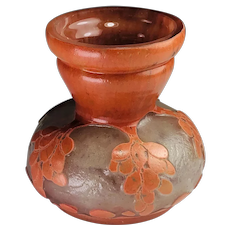 Schneider Art Deco Cameo Glass Vase