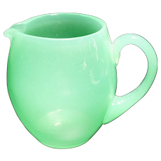 Carder Era Steuben Green Jade Pitcher