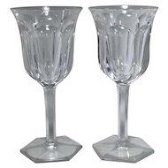 Baccarat Crystal Malmaison Claret Red Wine Glasses Goblets