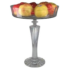 Baccarat Clear Crystal Tall Compote Mille Nuits collection