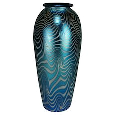Durand Blue King Tut Vase Shape # 1808 STUNNING !