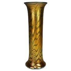 Durand Gold and Blue King Tut Vase Shape # 1714