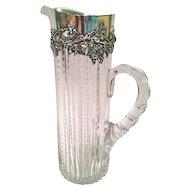 1897 Gorham Sterling Silver & American Brilliant Period Cut Glass